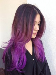 Brown To Lilac Ombre Hair