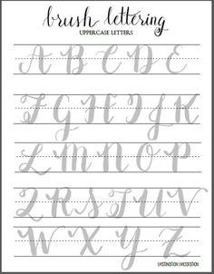 Cepillo letras mayúsculas Hoja de Letras por la decoración de Destino