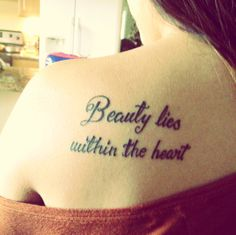 #tattoo #quote #beauty maybe in a different language?