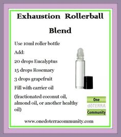 Exhaustion roller bottle blend eo's