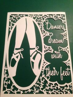 ballerina feet papercut