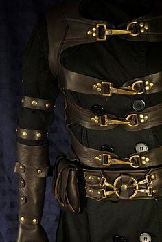 Steampunk Male | Custom Made Mens Steampunk Leather Costume | Steampunk