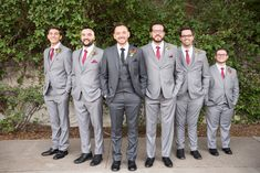 Gray suites, the light colored with a light gray tie and james wears a Lavender . Gray suites, the Dark Grey Groomsmen, Groomsmen Attire Grey, Groom Tux, Groomsmen Outfits, Bridesmaids And Groomsmen, Charcoal Gray Suit, Light Grey Suits Wedding, Grey Tux Wedding, Dream Wedding