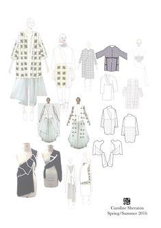Fashion Portfolio - fashion drawings; collection development; fashion sketchbook // Caroline Sheraton