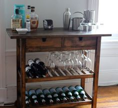 I need to redo mine to look like this. Wonder how they got the wine glass holder insert in there?