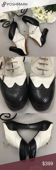 231b2cc841 Ralph Lauren Leather Lace Up Oxford Heels  Condition  Excellent. Some wear  to outsole