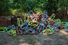 Bricks by Aakash Nihalani Pinned by www.modelina-architekci.com