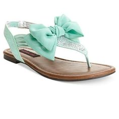 edee8c607d7583 Material Girl Skylar Flat Sandals in MINT color! - Shoes - Macy s Could be  cute wedding sandals!