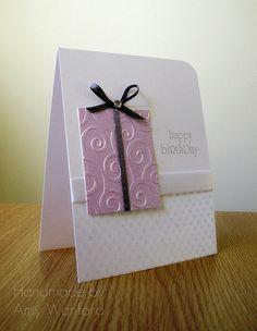 Happy Birthday card - so simple, and so pretty!