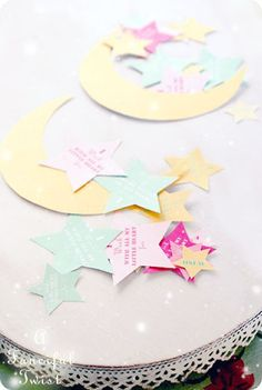 Stars and Moon printable PDF via a Fanciful Twist- LOVE her website!!