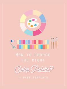 How to choose the right color palette? + FREE color palette template included! branding design, brand, design, blog, blogger, graphic design, web, color palette, palette, Adobe Capture, designer.