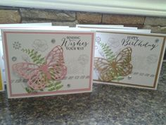 Butterfly basics Happy Wishes, I Card, Stampin Up, Card Making, Butterfly, Invitations, Friends, Amigos, Stamping Up