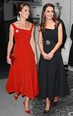 The Duchess of Cambridge is known for shopping her own closet, wearing her favorite items time and time again. And Tuesday night was no exception — well, sort of. At the Place2Be Wellbeing in Schools Awards in London, Kate Middleton stepped out in a black dress in a strikingly familiar silhouette. Why