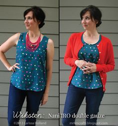 mmmcrafts: in which I sew a large number of woven tanks (or, Grainline vs Wiksten)