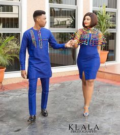 Modern Ankara Styles for Couples to Rock this Beautiful Year - DeZango You could settle on the charming Modern Ankara styles for couples in the event that you need to look staggering. Couples African Outfits, African Dresses Men, African Attire For Men, African Clothing For Men, African Shirts, Latest African Fashion Dresses, Couple Outfits, African Print Fashion, African Wear