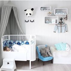 Blue, white and grey | #jollyroom