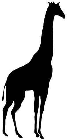 7 Best Images of Printable Silhouettes Of Animals - Animal Silhouette Patterns, Animal Head Silhouettes and Free Animal Silhouette Clip Art Giraffe Silhouette, Silhouette Clip Art, Black Silhouette, African Animals, Button Art, Pictures To Paint, Art Plastique, Printable Animals, Stencils