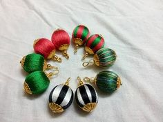 How To Wrap Plastic Bead using Silk thread to make earring and necklace - tutorial - YouTube