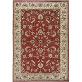 Found it at Wayfair - Copley Red Floral Area Rug. For the Dinning room.