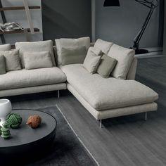 Canapé Design, Sofa Design, Contemporary Sofa, Modern Sofa, Canapé Diy, Canape D Angle Design, Living Room Wall Designs, Scandinavian Sofas, Living Room Cushions