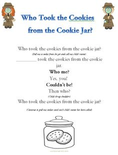 Who Stole The Cookie From The Cookie Jar Lyrics Custom Sing And Read Who Took The Cookie From The Cookie Jar Ebook
