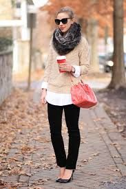 Image result for sweater and scarves ensembled