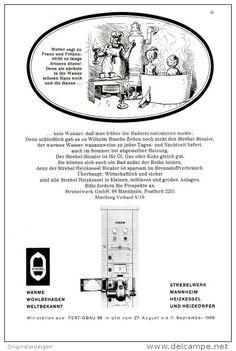 Original-Werbung/ Anzeige 1966 - 1/1-SEITE - STREBEL HEIZKESSEL - MOTIV WILHELM BUSCH - ca. 150 X 230 mm
