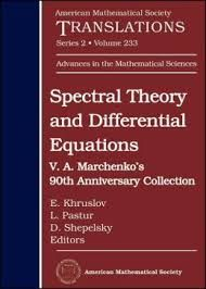 Spectral Theory and Differential Equations: V. A. Marchenko's 90th. 2014. Máis información: http://www.ams.org/bookstore-getitem/item=trans2-233