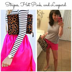 Stripes, Lace, Hot Pink, and Leopard!