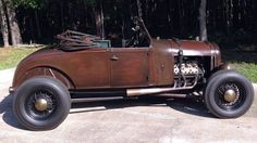 1929 Ford Model A Roadster with a 1940's flathead V8