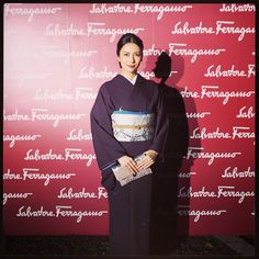 #京都将軍塚青龍殿 #着物 #SalvatoreFerragamo Yukata Kimono, Kimono Fabric, Japanese Beauty, Asian Beauty, Japanese Style, Obi Belt, Japanese Outfits, Japanese Kimono, Beautiful Asian Women