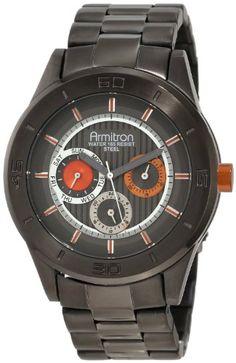 Unisex Armitron 204852ORDGMns Dk Gun SS Blk Dial,, Orange Accnts by Armitron - Price: $127.76