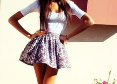 what cute short skirts for the summer | ... of embellished sandals and you've got yourself one cute summer outfit