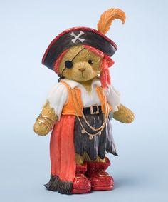 Look at this #zulilyfind! Red Pirate Bear Figurine #zulilyfinds