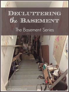 Do you have basement clutter? Our family definitely does and my husband and I are tackling it together as our first decluttering project as a couple!