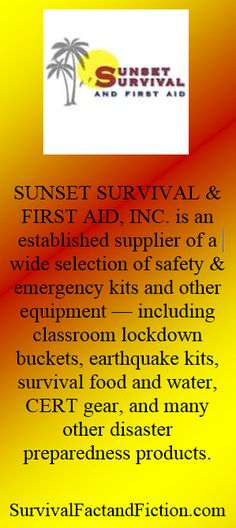 Are you ready for #SHTF or #disaster  SunsetSurvival.com has your gear to get you #Prepared #SFFBC