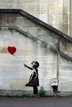 Banksy. Near the National Theatre, London