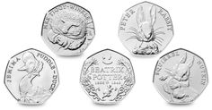We recently asked you to pick your favourite 2016 Coin design and there is a clear winner… Nearly of you have voted for The Beatrix Potter Series as your favourite. Beatrix Potter wrote and… Rare British Coins, Rare Coins, Change Checker, Coin Collecting Books, Beatrix Potter Illustrations, English Coins, Fifty Pence Coins, Peter Rabbit And Friends, 50p Coin