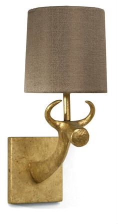 Designer Gold Bull Wall Sconce,  sharing luxury designer home decor inspirations and ideas for beautiful living rooms, dinning rooms, bedrooms & bathrooms inc furniture, chandeliers, table lamps, mirrors, art, vases, trays, pillows, accessories & gift courtesy of InStyle Decor Beverly Hills enjoy & happy pinning