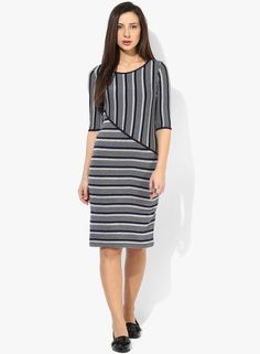 1f37141bce7 Buy Latin Quarters Navy Blue Colored Striped Bodycon Dress Online - 3695751  - Jabong