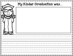 Kinder Graduation Journal Writing Centers, Friendly Letter, Reflection, Student, Journal, Lettering, Math, Kids, Math Resources
