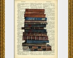 stack of books art - Google Search