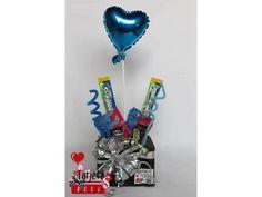 Ancheta corazon azul !!!  Contenido:   - 2 jolly ranger.  -2 paquetes de mini sweet arts. - 2 mini chocolatinas milkyway  - 1 globo metalizado.  Precio: $20.000 Incluye tarjeta, servicio a domicio en medellin, como comprar: 3207187678 ó 3148179785, escríbenos por whatsapp, ventas al por mayor y al detal !!!