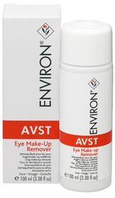 Environ's AVST Eye Make-up Remover is an oil free product, which gently removes eye make-up without drying the skin around the eyes. It contains Honeybush Tea extract which has powerful antioxidant and soothing properties and contains a mild fragrance.