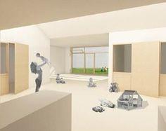 Architectura - Voormalig Kostuumatelier huisvest crèche en woningen volgens Passiefhuisprincipe / CENERGIE