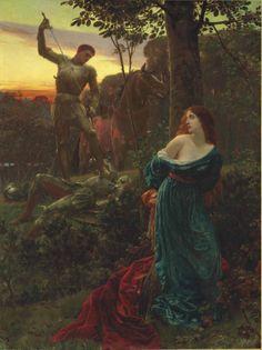Сер Френк Дицксее, ПРА (1853-1928) витешки Викторије и британски импресионизма Уметност