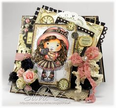 Created-By-Silvie-Z.: La-La Land Crafts - MARCI WITH CAMERA from Stamp Club kit ♥♥