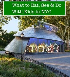 5 top things to see, eat and do with kid in NYC, like ride this Sea Glass Carousel.
