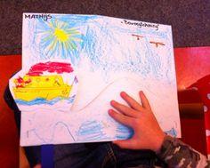 Juf-Stuff: Beweegtekening: Tekening laten maken, gleuf erin snijden, bootje tekenen en uitknippen of prikken, ijslollystokje of reep karton eraan. Opzegversje of liedje erbij en....spelen maar!Bij alle thema's kun je wel wat bedenken: een egeltje in het bos, een eekhoorn in de boom, een Pietje die in en uit de schoorsteen klimt enz enz. Waldorf Kindergarten, Moving Pictures, Crafts For Kids, December, Seasons, Teaching, Drawings, School, Fall