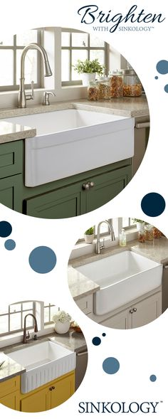 Brighten your kitchen with a vibrant white fireclay farmhouse sink from Sinkology. Handmade to bring a warm glow to the heart of your home.  Get 10%-25% off Sinkology fireclay sinks and kits at HomeDepot.com now until 8/28
